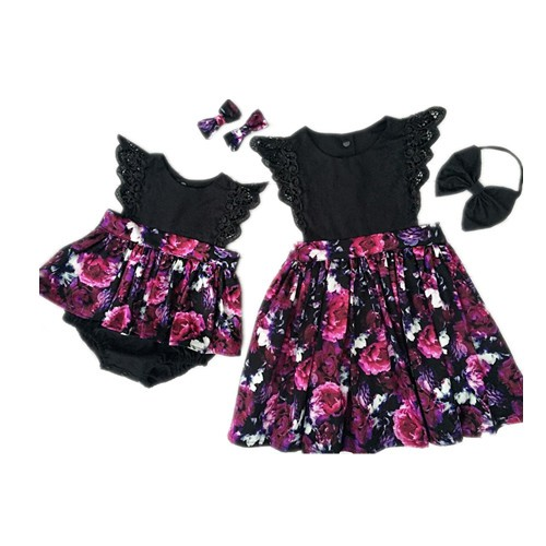 164c8e079dbd4 YYY-Toddelr Kid Baby Girl Sister Matching Floral Jumpsuit Romper Dress  Outfits