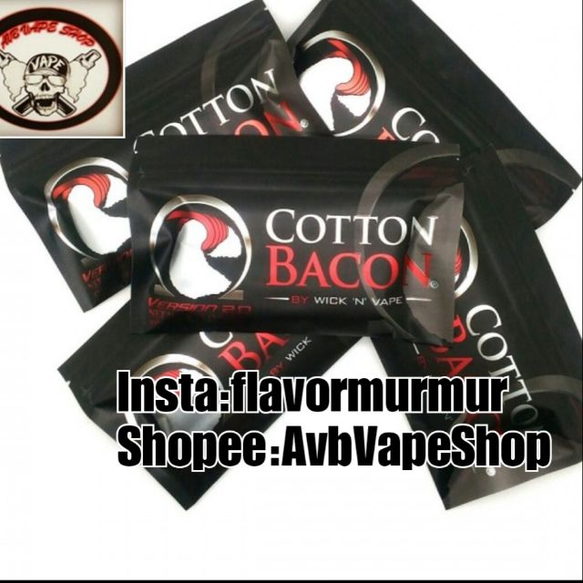 Source · Cotton Bacon V2 USA (Kapas Organic Premium Untuk Vape Vaping Vapor. Source