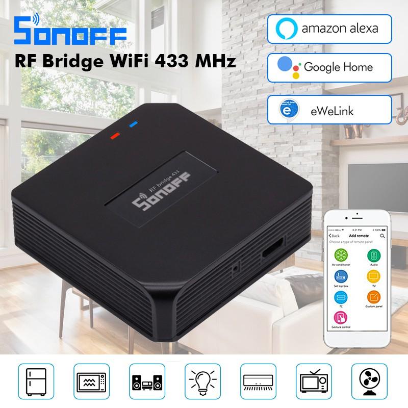 e1d9996401484 【Hot Sale】Sonoff RF Bridge 433MHz Wifi Smart Switch Voice Control