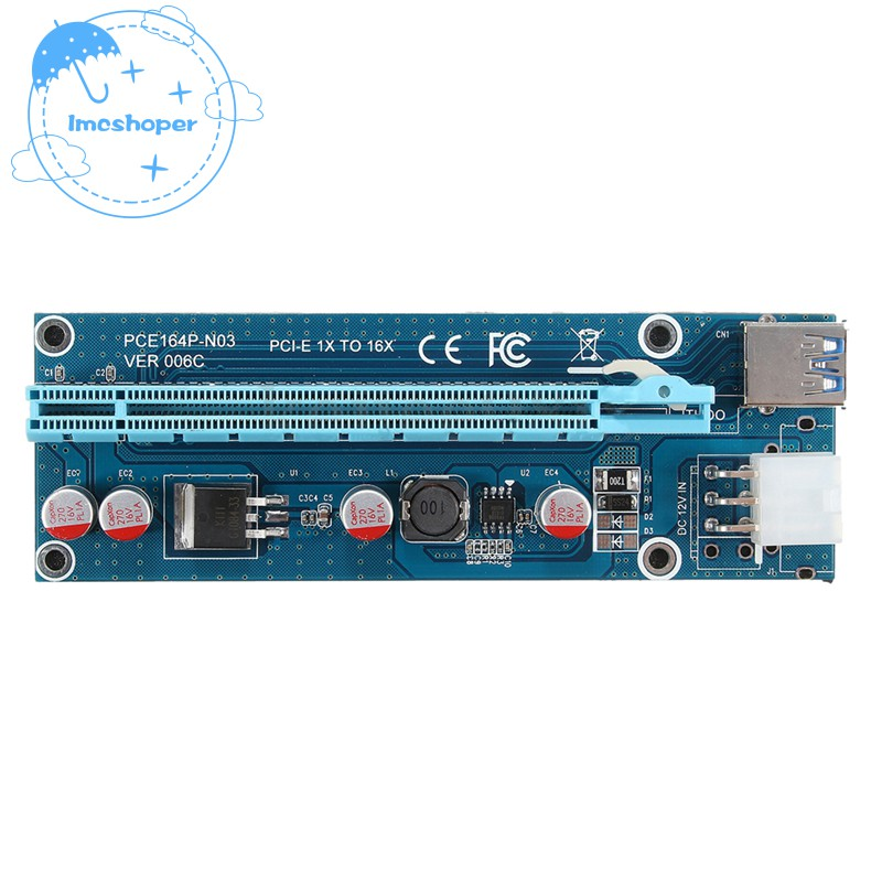 Adaptable Pci-e X4 To Dual Usb Type-c Pci-e X4 Expression Card Computer & Office