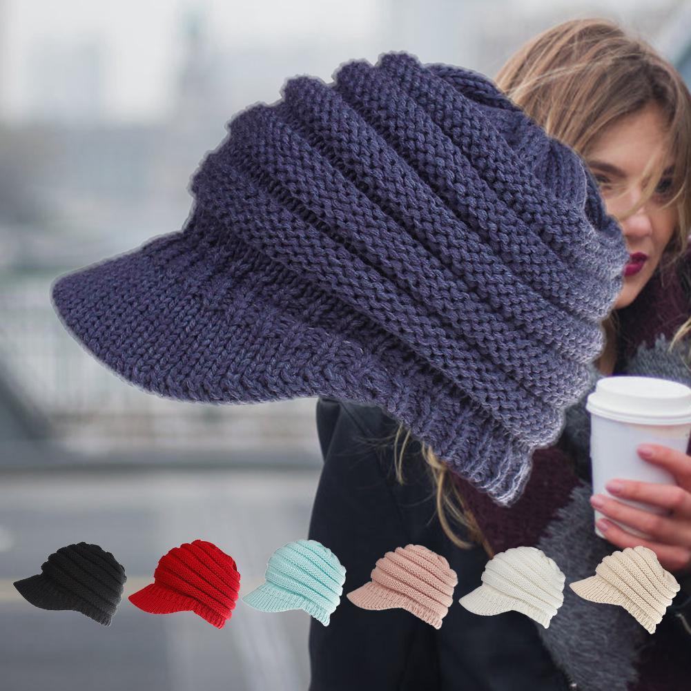 c3cc627081cba Winter Ski Cap Men Women Knitted Warm Sport Open Baseball Hat | Shopee  Malaysia