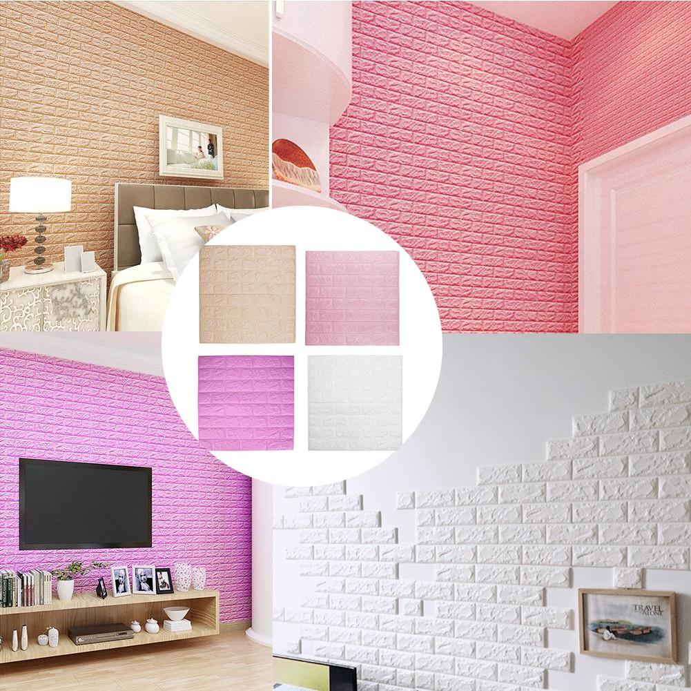 3D PE Foam Wall Stickers DIY Brick Wallpaper Wall Decor