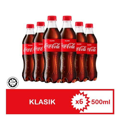 Coca-Cola Klasik (500ml x 6)