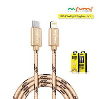 NAFUMI I8 BRAIDED DATA CHARGING CABLE 3.1A OUTPUT FAST CHARGE DATA TRANSMISSION SPEED TYPE C TO IOS APPLE LIGHTNING PORT