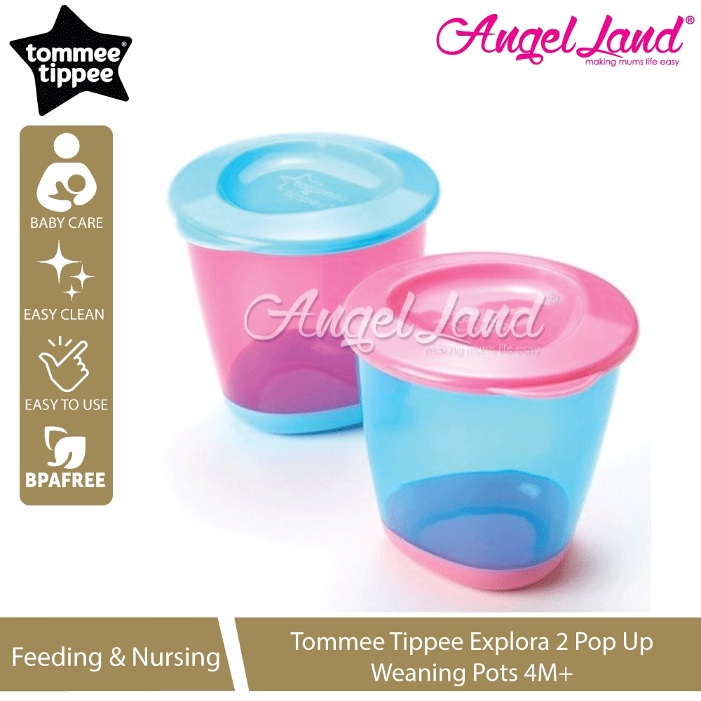 1 2 3 6 12 Packs Tommee Tippee Weaning Freezer Pots /& Tray Blue 4M