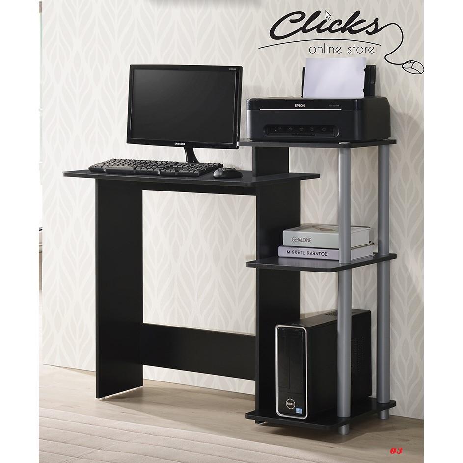Sale Offer Computer Writing Desk Meja Komputer Dengan Tempat Letak Printer Clicks E Store Cf 1033 Shopee Malaysia Meja laptop dan printer