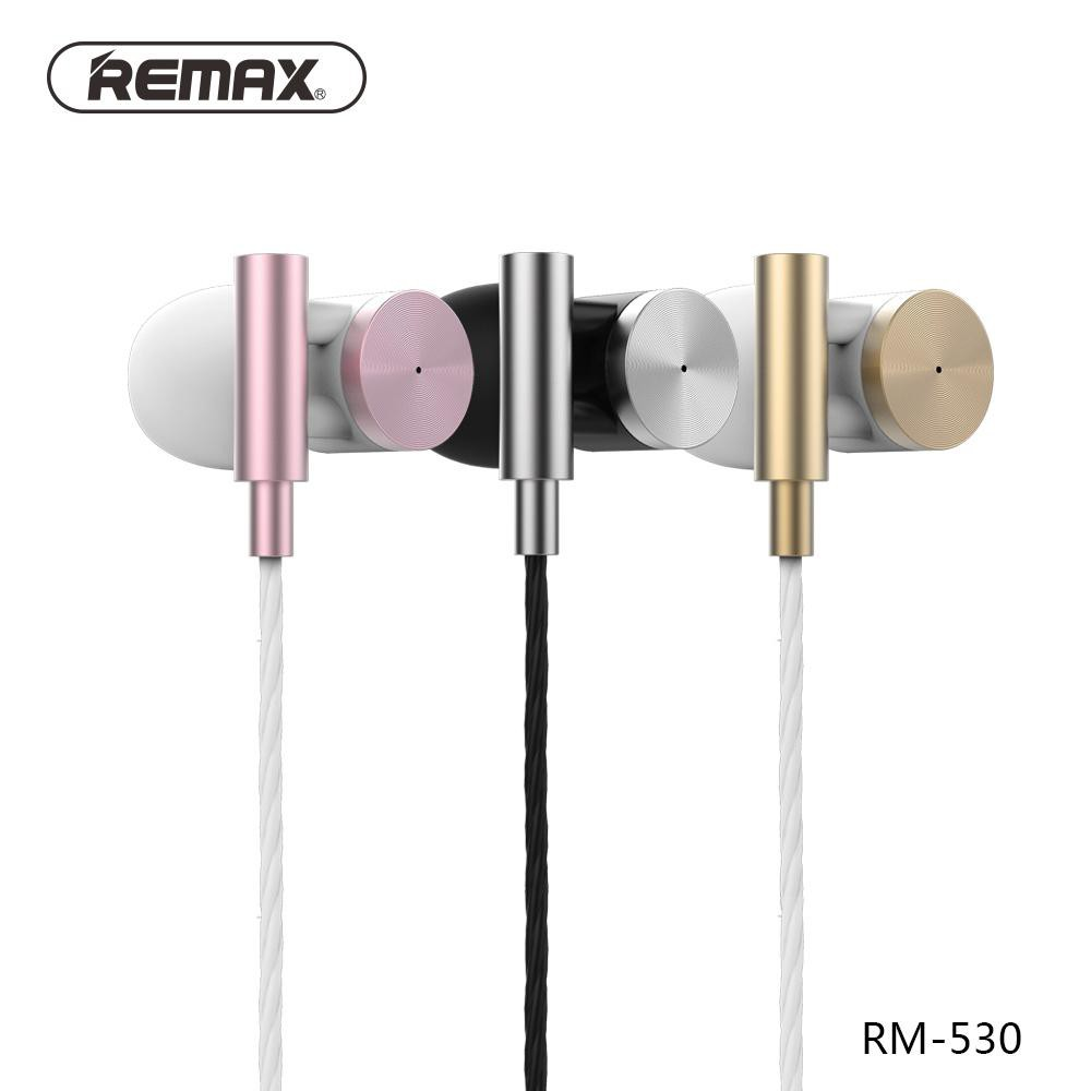 Genuine Remax Rm 530 Metal Hifi Wired Earphone With Microphone Handsfree 305m Volume Control Original Shopee Malaysia