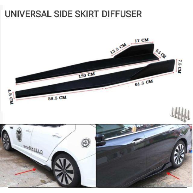 86cm Universal Car Carbon Fiber Rubber Front Bumper Lip Side Skirt Protector K