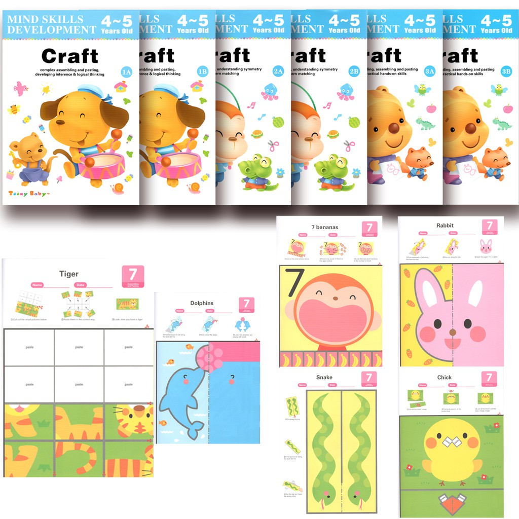 READYSTOCK 6in1 CRAFT Set Mind Skills Development 4-5Years Old by Teeny Baby