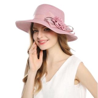 31764af3 Fashion Wide Brim Floppy Summer Straw Sunhat For Women Beach Casual  Vacation Cap | Shopee Malaysia
