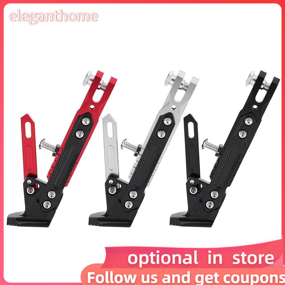 Color : Black Motorbike Kickstand for YAMAHA NMAX 155 2015-2016 N-MAX 125 Universal Adjustable Foot Side Support Stand