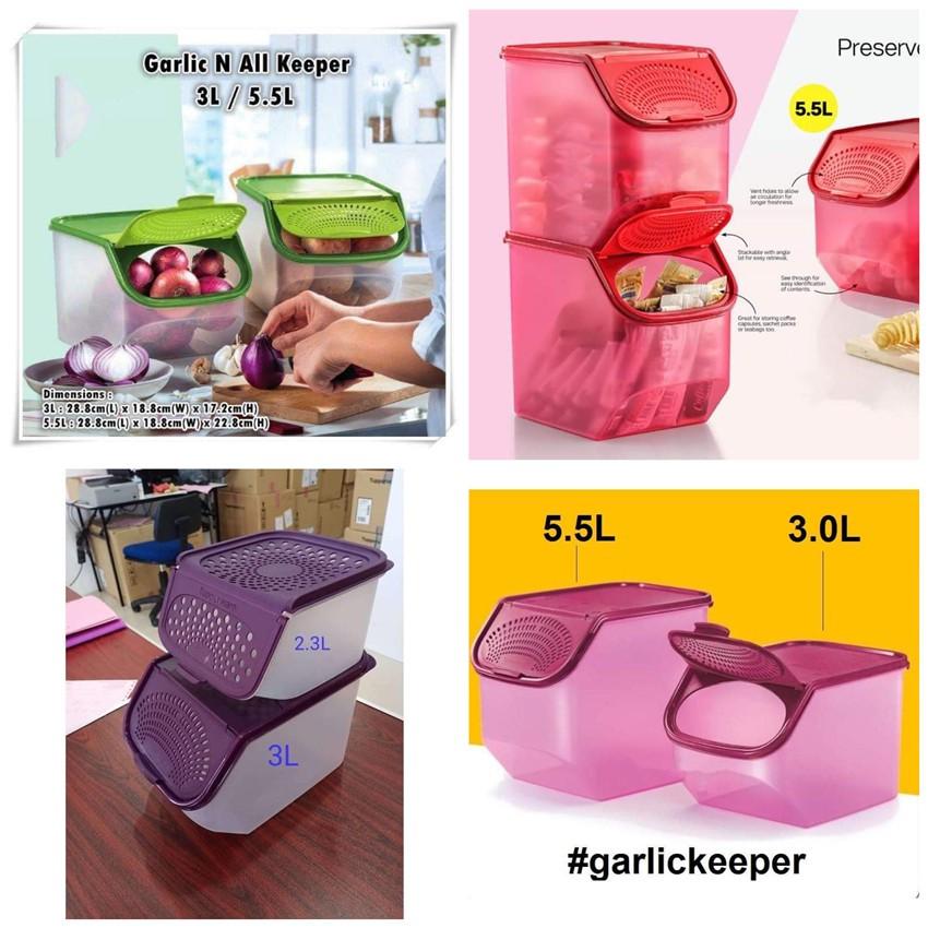 Tupperware Garlic Keeper 3L+5.5L  or 3L or 2.3L
