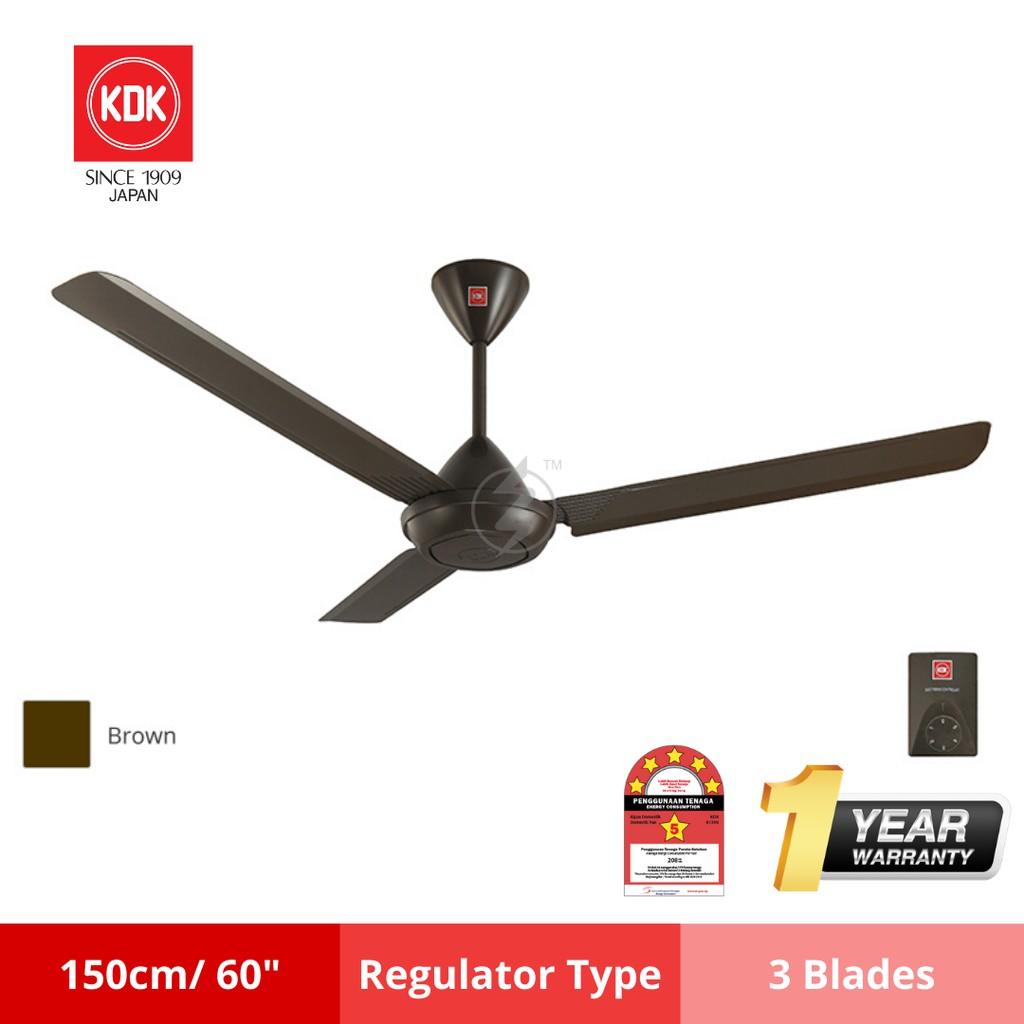 Kdk K15v0 Ceiling Fan 60 Inch 150cm 3 Blade White