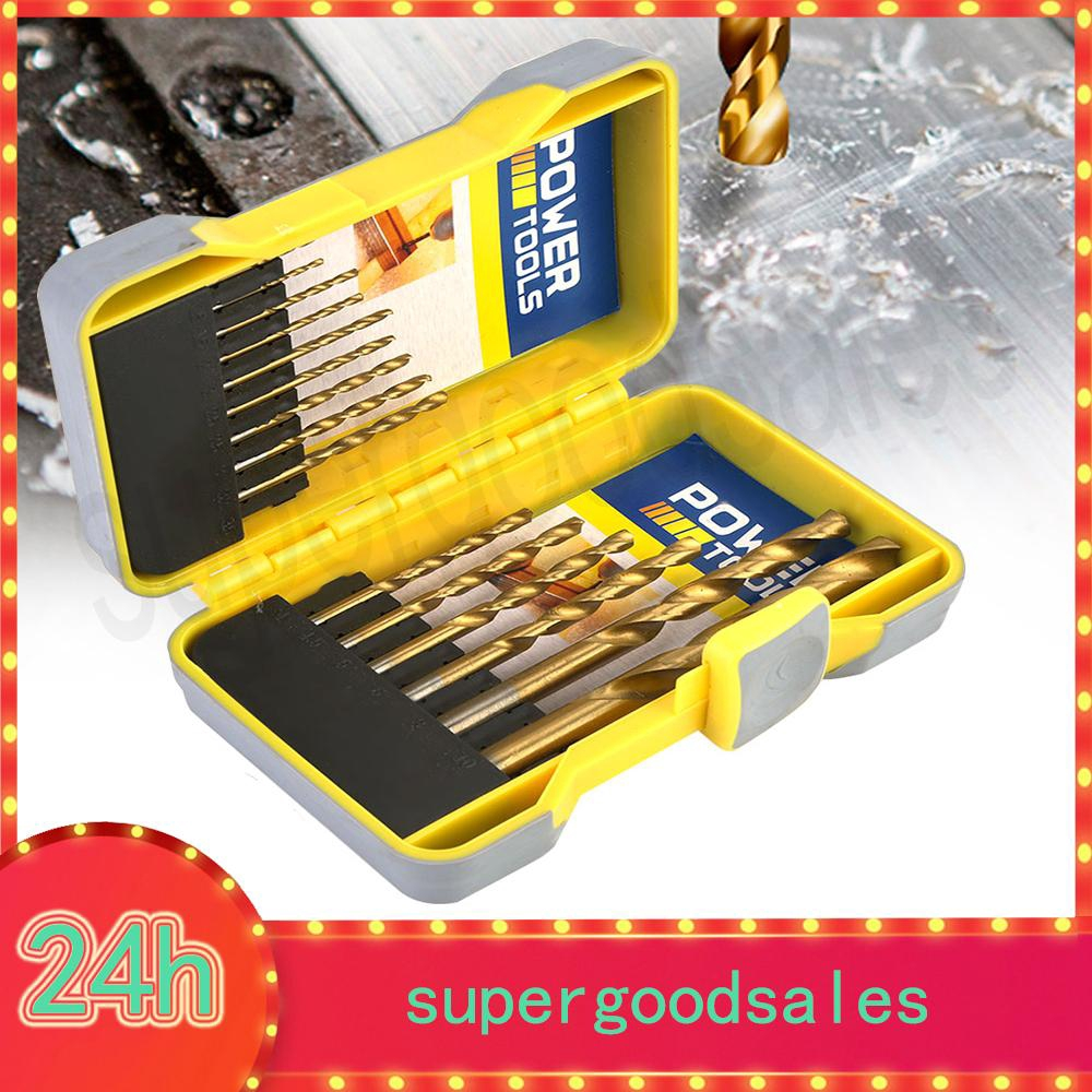 ProductImage. ProductImage. 15 pcs/set Round Shank HSS Titanium Coated Twist Drill Bits for Drilling Wood/Metal
