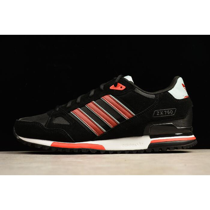 save off 03634 020ca Mens Adidas ZX 750 Black/Red-White S24856