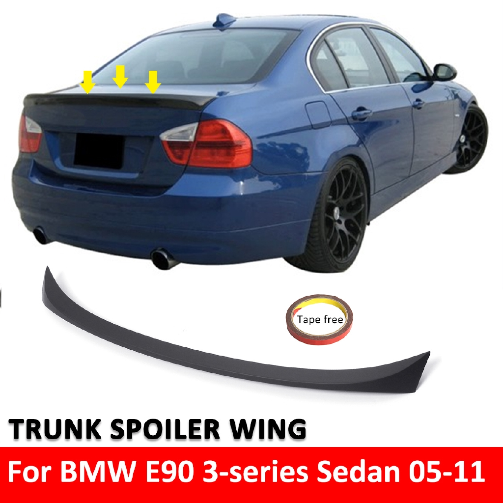 ABS REAR BOOT TRUNK LIP SPOILER WING FOR BMW 3 SERIES SEDAN E90 2005-2012 4  DOOR