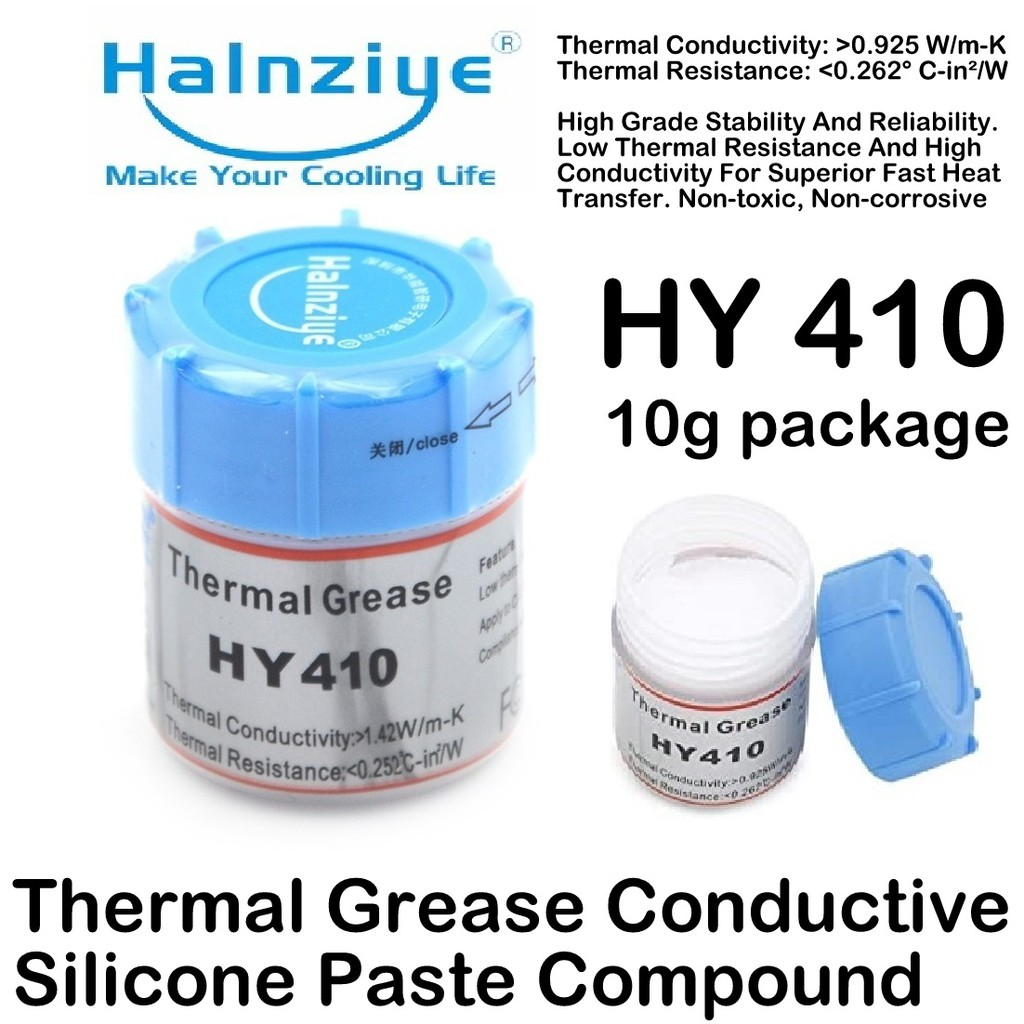HY410 Thermal Grease Heat Conductive Silicone glue Paste Compound 10g Cooling cooler heatsink CPU GPU LED chip machine