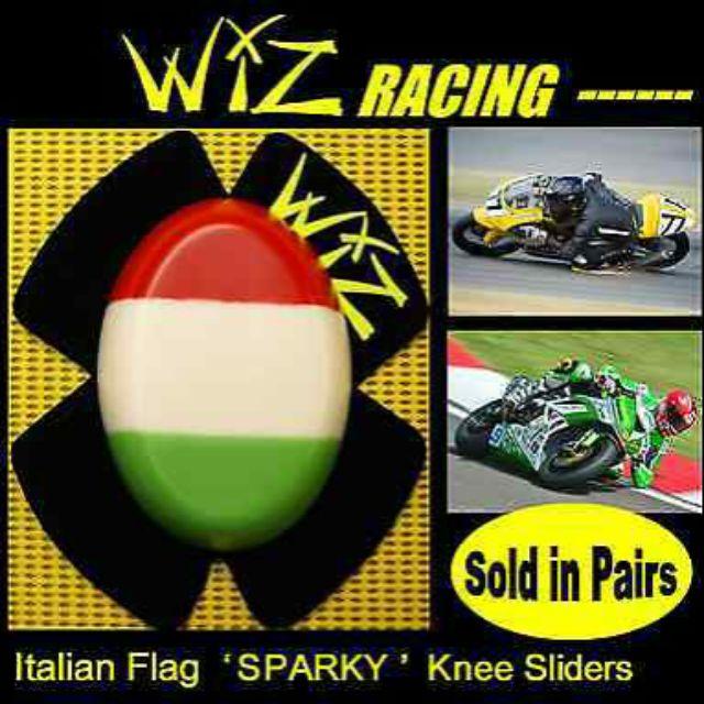 Wiz Racing Knee Slider Set ISLE OF MAN TT
