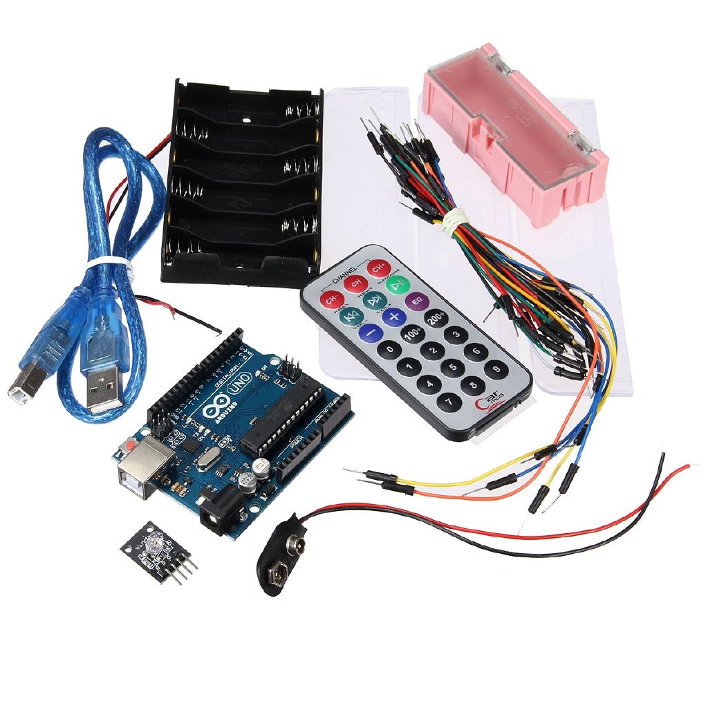 UNO R3 Starter Kit 5V Relay IR 9G Servo Potentiometer Buzzer LEDs For  Arduino