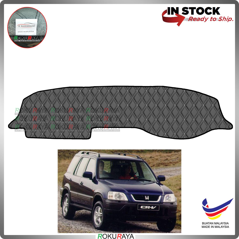 [BLACK LINE] Honda CRV CR-V RD1 RD2 RD3 1998-2001 RR Dashboard Cover Leather PU PVC Black Car Accessories Parts