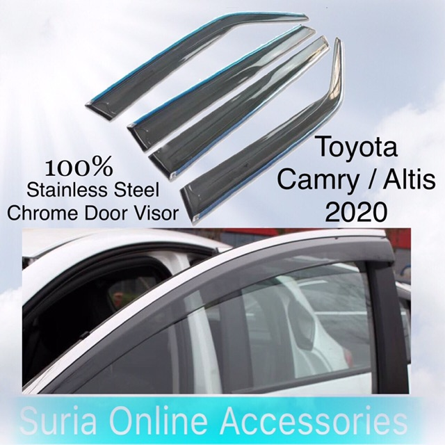 [ Hot Item ] Toyota Camry / Altis 2020 | Stainless Steel Chrome Air Press Door Visor | High Quality Material | Offer