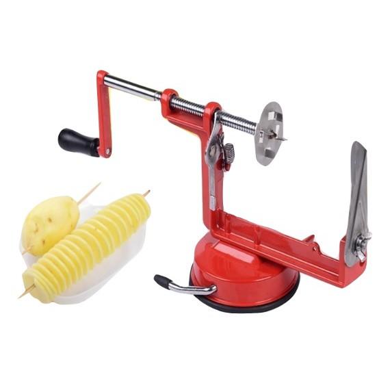 Manual Steel Spiral Potato Slicer Cutter