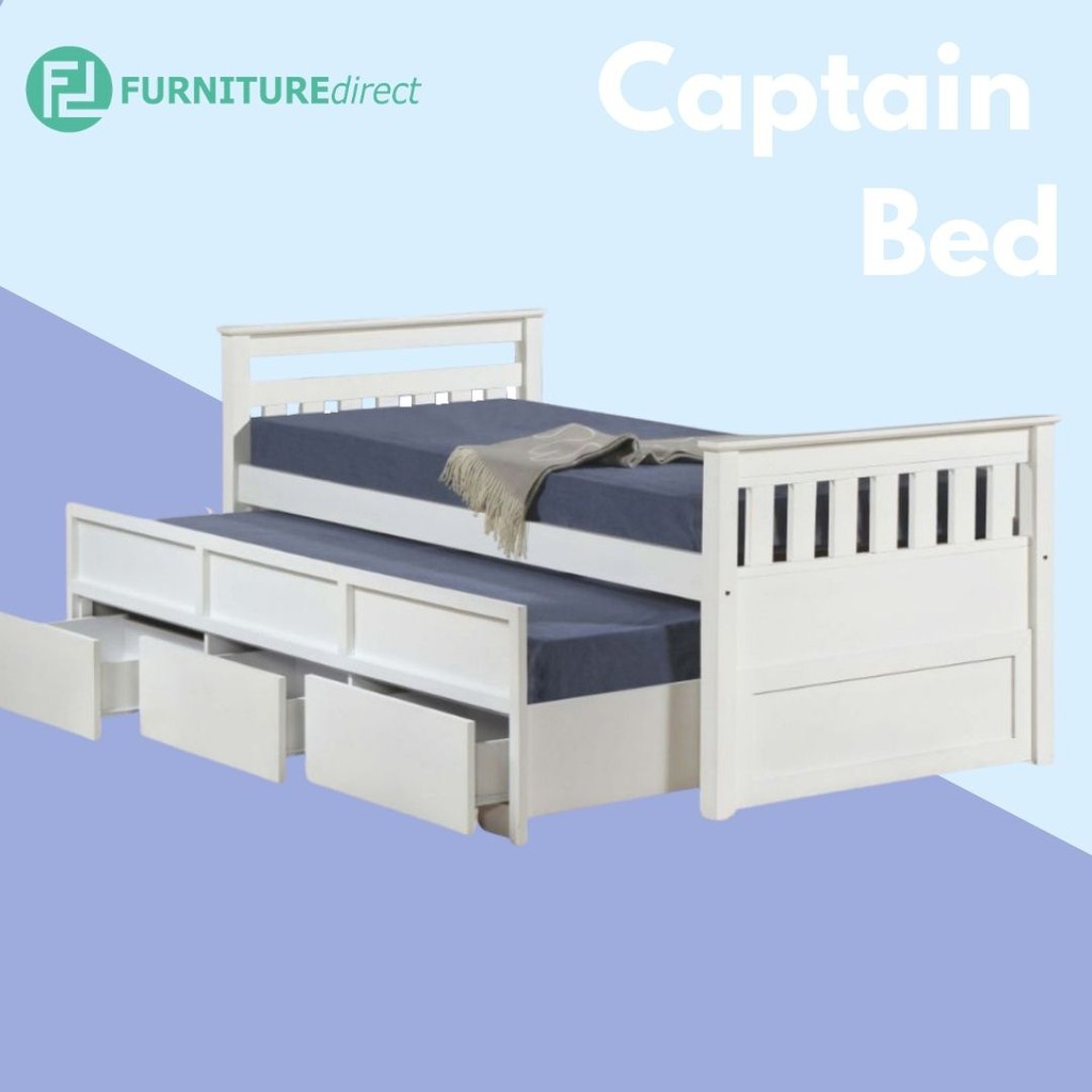 Furniture Direct LT1242 solid wooden single size captain bed