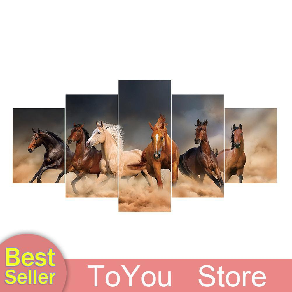 5D DIY Horse Diamond Painting Full Drill Embroidery Kits Wall Arts Decors Gifts