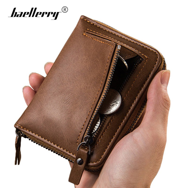 Quality Leather Dark Brown Flip Wallet Coin Card /& Note Section  AN 015