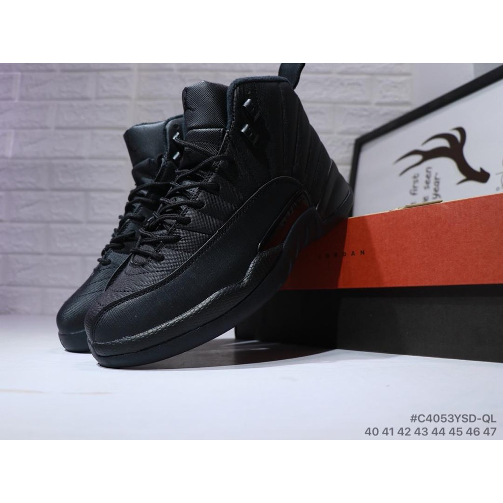 brand new c8db2 02ab8 NIKE Air Jordan 12 Retro Joe 12 Black in the full leather basketball Shoes