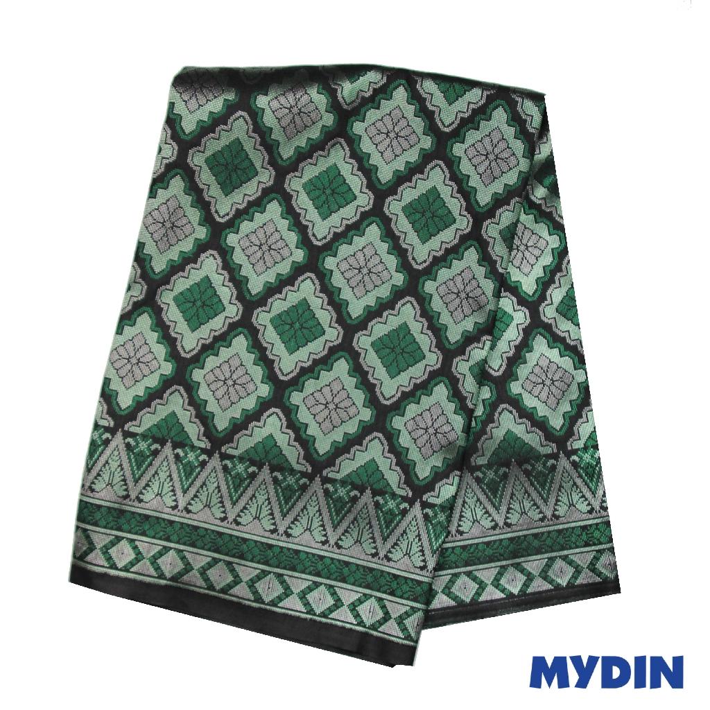 "Men Sampin - Green On Black with Designs (2.25m X 36"") 0819PECDD01 #Raya"