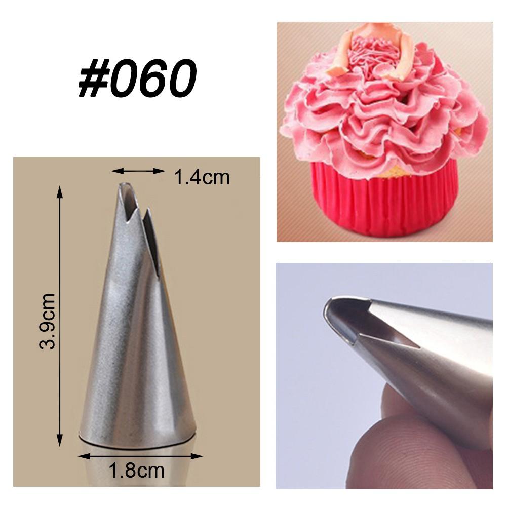 3Pcs Large Size Icing Piping Nozzles Tips Pastry Cake Sugarcraft Decor Sets