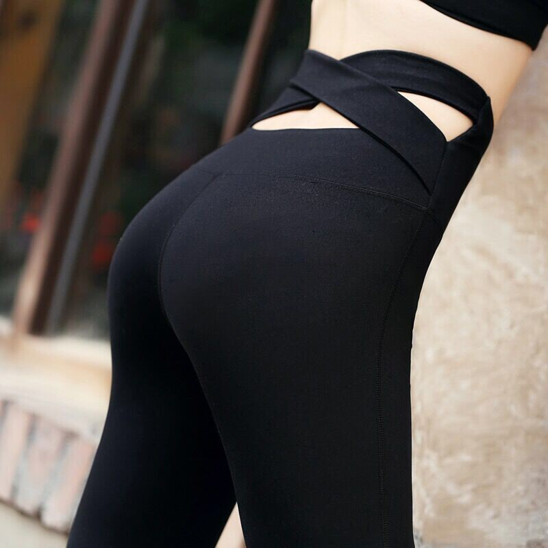 7f1862d08470 ☆Crazy☆Women Slim Elastic Movement Workout Clothes Quick-Drying Running  Tight Le