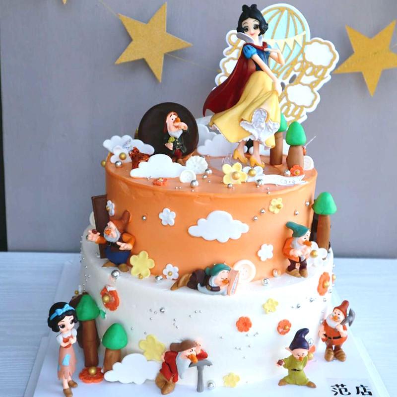 Fabulous Disney Snow White And The Seven Dwarfs Doll Birthday Cake Baking Funny Birthday Cards Online Alyptdamsfinfo