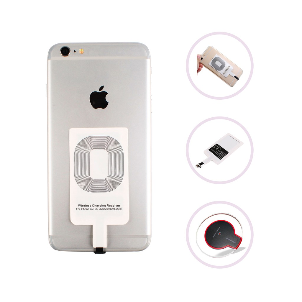 Ultra Thin Qi Wireless Charger Fast Charging Pad Iphone Universal Receiver Reveres Port For Smartphone Shopee Malaysia