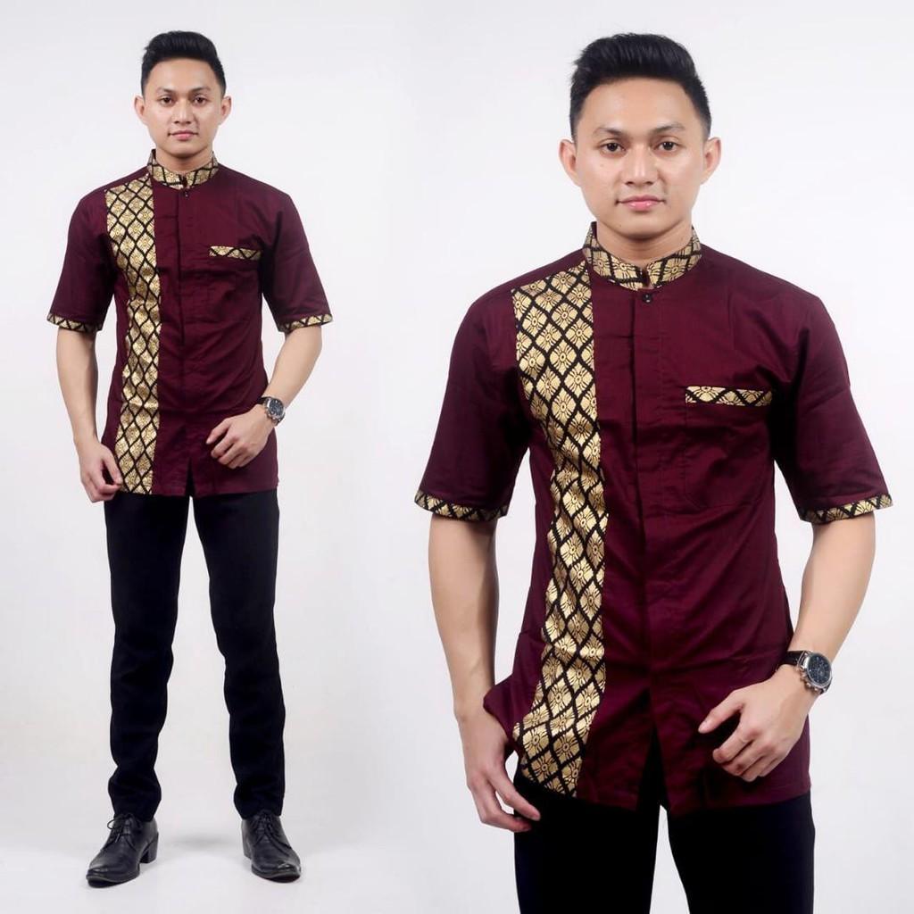 Kemeja baju Batik shirt Modern floral   Ready Stock