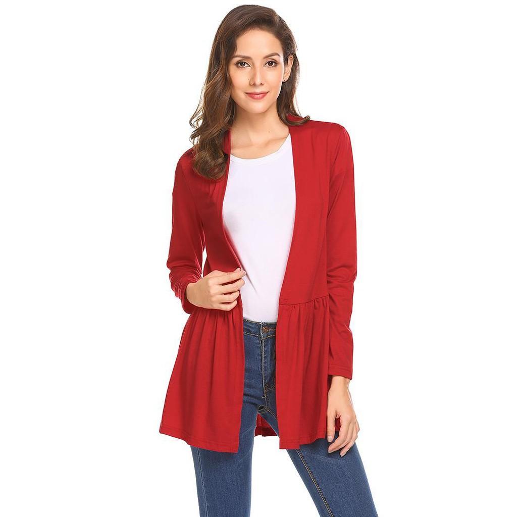 fd95758645e7b Women Casual Plus Size Sleeveless Open Front Slim Waist Solid Cardigan Vest
