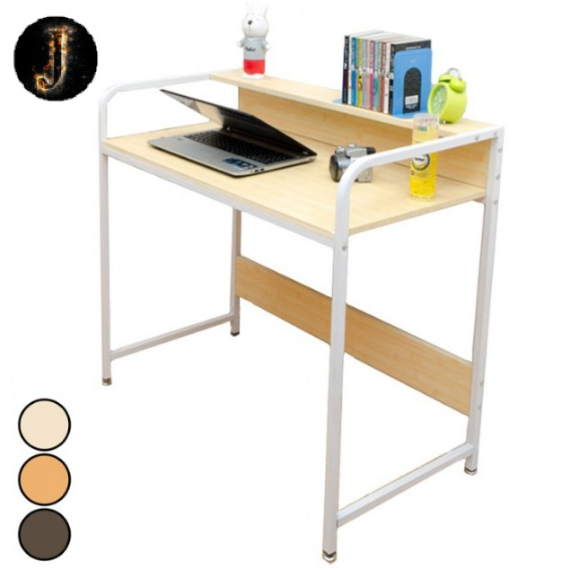 modern wood table office home desk workstation child study computer