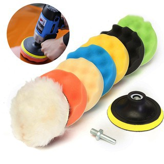 8Pcs 3 Inch Buffing Sponge Polishing Pad Kit Set For Car Polisher