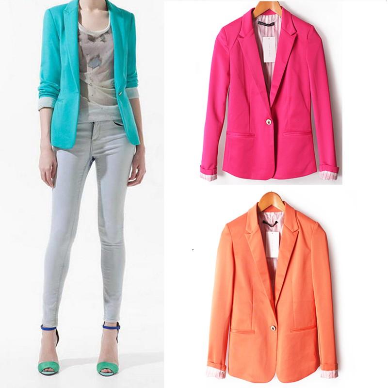 Plus size UK Womens Slim Fit Outwear Business Blazer Suit Jackets Cardigan Coat