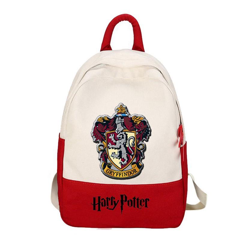 Harry Potter Backpack Knapsack Schoolbag Travel Bag Faux Leather For Fan Gifts