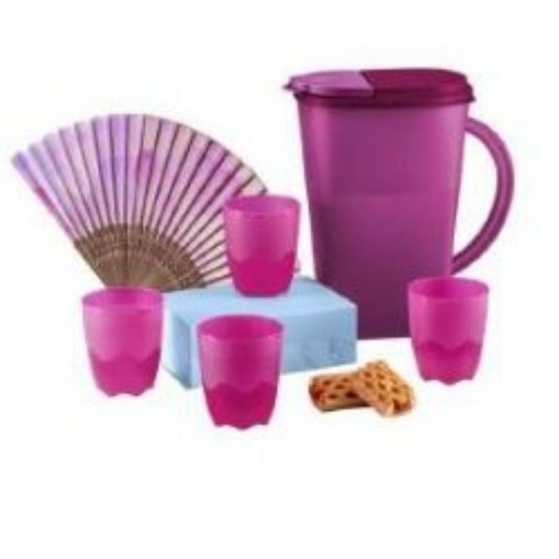 Tupperware Camellia Collection Serveware Set / Dining Pitcher 3.7L / Tumblers 275ml