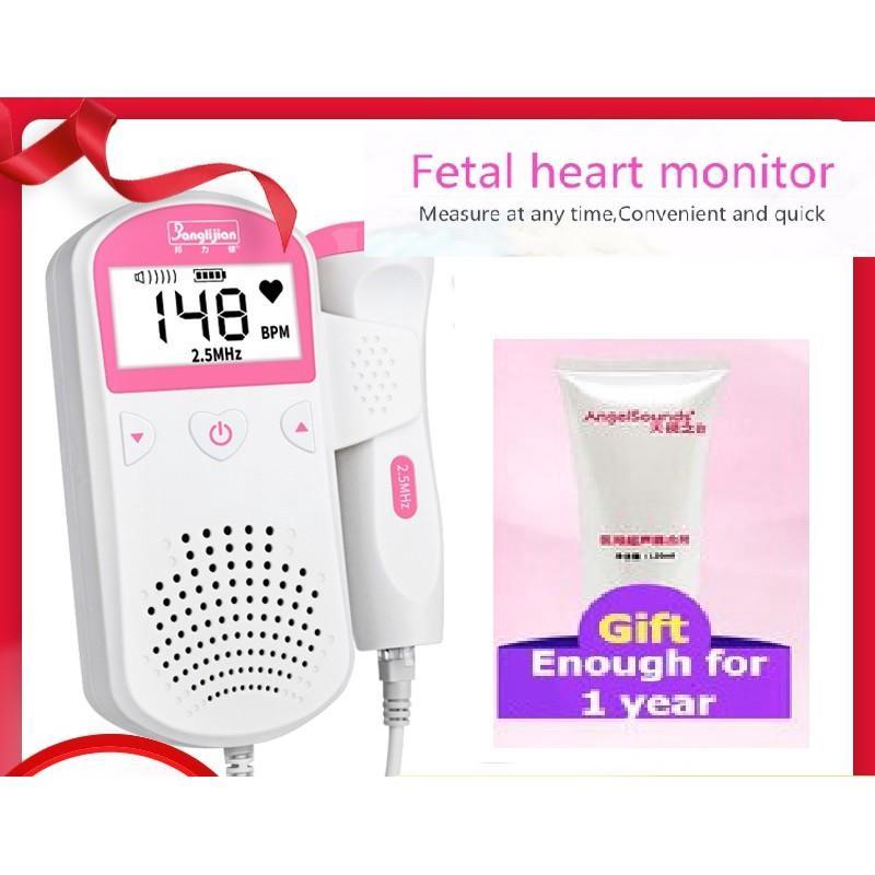 Pocket Fetal Doppler Baby Heart Beat Rate Monitor FHR LCD Probe Pregnancy Fetus