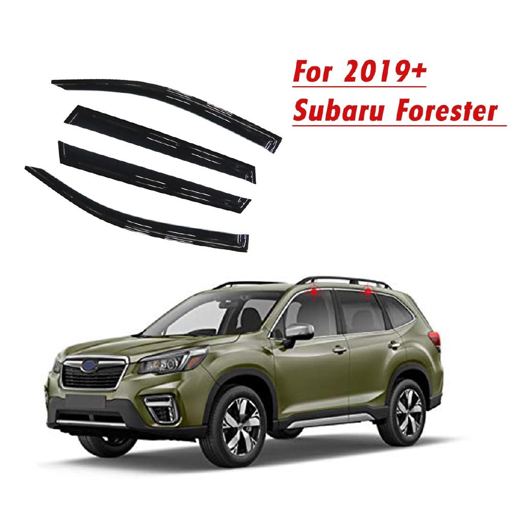 For Subaru Forester 2019 Chrome Trim Window Visor Guard Vent Deflector