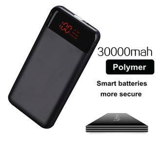 Advertising 30000mah Power Bank External Battery Poverbank 2 Usb Led Powerbank Portable Mobile Phone Charger For Xiaomi Mi Iphone 8 Samsung