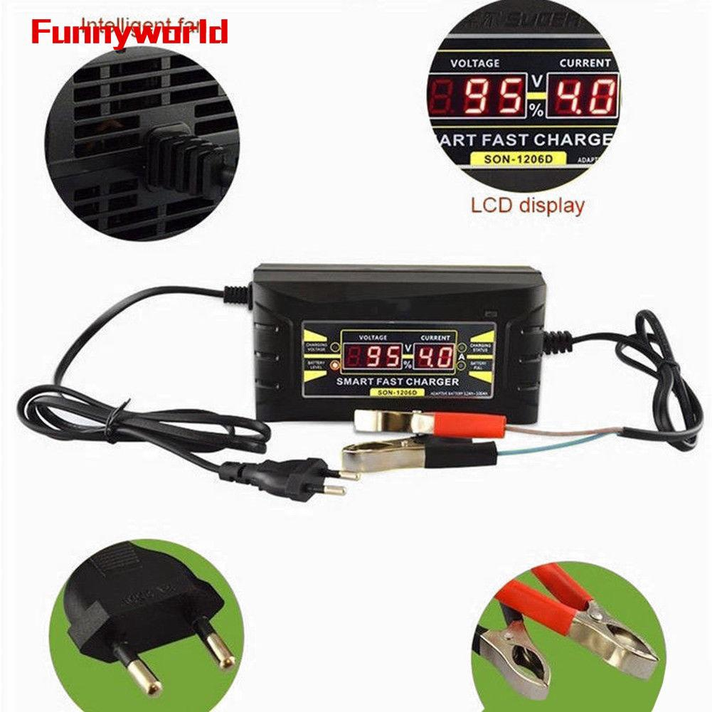 12V 6A Car Motorcycle Smart Fast Lead acid Battery Charger