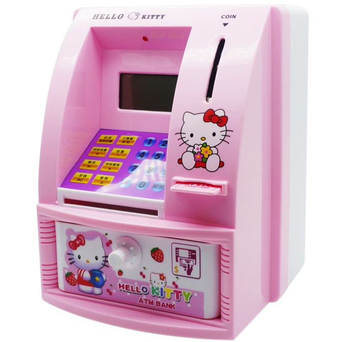 MINI ATM BANK toy Baby Child education deposit coin Money SAVINGS ATM toy