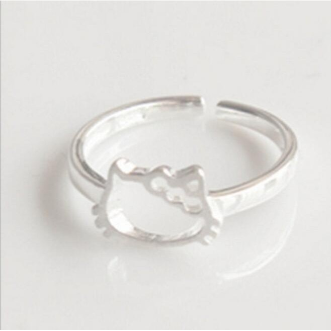 Hello Kitty Style Hollow Out Lovely Popular Ring Female Shopee