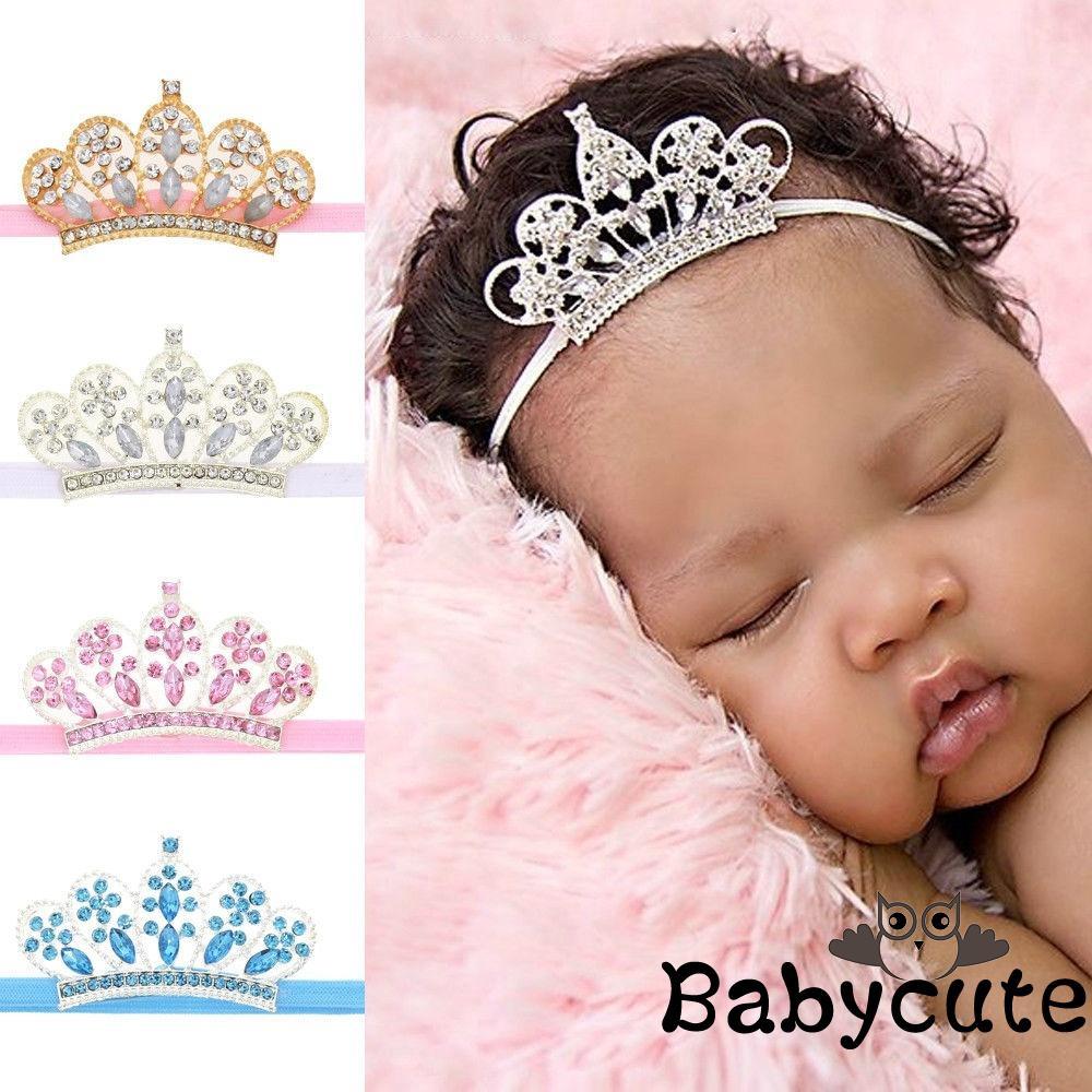 Crystal Tiara Rhinestone Girl Baby Hair Band Crown Zone Hairband Baby Headwear