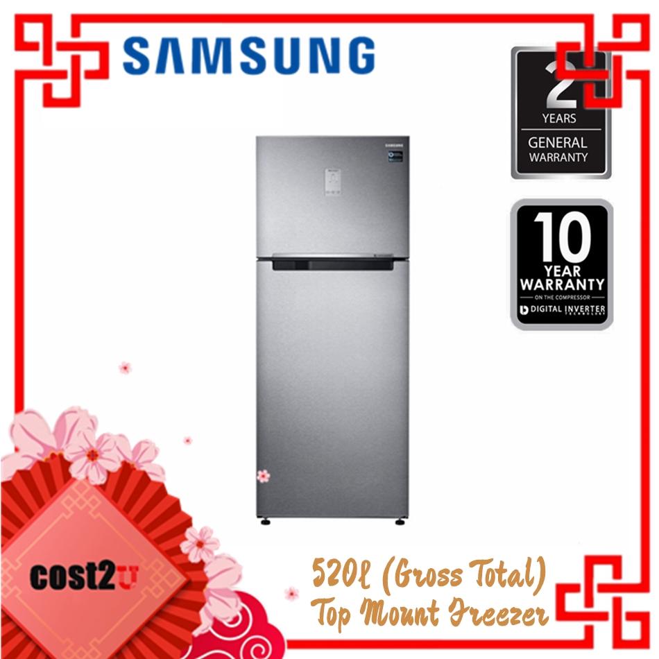 SAMSUNG DIGITAL INVERTER TWIN DOOR FRIDGE 520L - EZ CLEAN STEEL   RT43K6271SL/ME